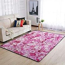 Rug Pink Rose Area Rug Design Rectangular Bedroom