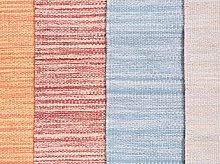 Rug Red Cotton 80 x 150 cm Rectangular Hand Woven