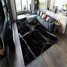 Rug Rug For Bedroom Black marble pattern design