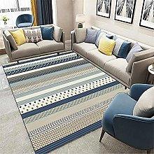 Rug rug for bedroom Blue gray retro geometric