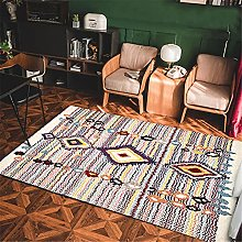 Rug rug for bedroom Pink yellow blue vintage