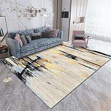 Rug rug for bedroom Yellow Blue Black Simple Ink