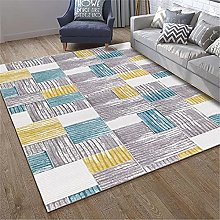 Rug rug for bedroom Yellow blue gray geometric