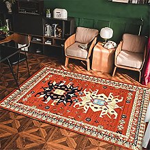 Rug rug for bedroom Yellow blue vintage living