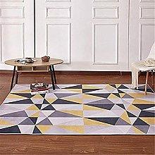Rug rug for bedroom Yellow gray geometric triangle