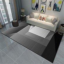 Rug rug for living room Black gray modern