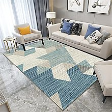 Rug rug for living room Blue gray striped