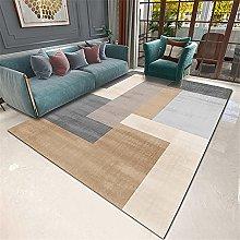 Rug rug for living room Brown gray geometric