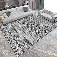 Rug rug for living room Gray black striped carpet