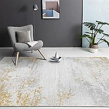 Rug rug for living room Gray yellow abstract ink