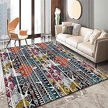 Rug rug for living room Yellow blue gray mess