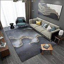Rug rug for living room Yellow blue ink carpet
