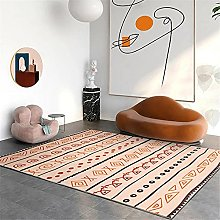 Rug rug for living room Yellow red doodle