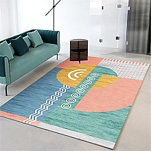 rug sale Green carpet, geometric pattern non-slip