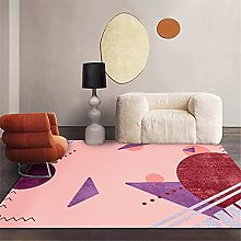 rug sale Pink carpet, office chair mat balcony
