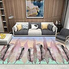 rug sale Purple carpet, leaf pattern, easy to