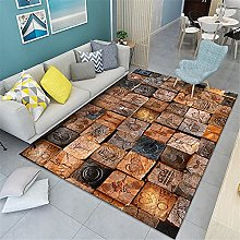 rug sale Yellow brown carpet, Gege Retro pattern