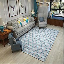 Rug sofa for bedroom carpet Blue gray simple