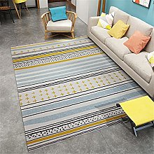 Rug sofa for bedroom rug Blue yellow white simple