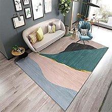 Rug stable rug Blue green gray simple geometric