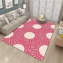 rug underlay anti slip for hard floors Red