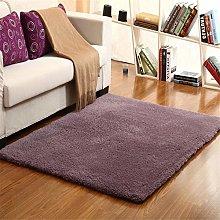 RUGMRZ Artificial Wool soft Rug Purple Grey Fluffy