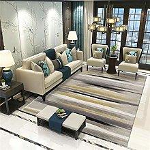 RUGMRZ Bed Carpets For Bedroom Grey fuzzy stripe