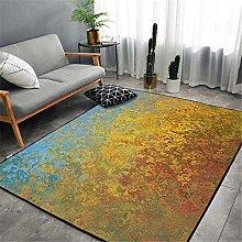 RUGMRZ Carpet Yellow carpet simple retro old