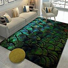 RUGMRZ Carpets For Living Room Sale Feather 3D
