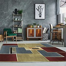 RUGMRZ Carpets Small Size Red yellow square