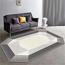 RUGMRZ Chair Mat For Carpet Gray irregular