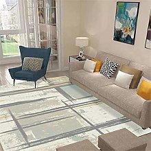 RUGMRZ Easy To Care Living Room Carpet Grey