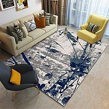 RUGMRZ Extra Large Rug Living room carpet blue ink