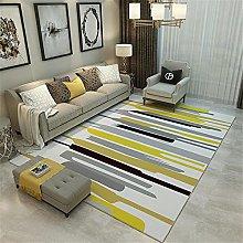 RUGMRZ Fireside Rug Yellow modern minimalist