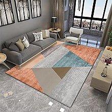 RUGMRZ Living Room Rug Orange series of modern