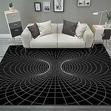 RUGMRZ Living Room Rugs 3D visual round carpet