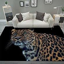RUGMRZ Rug For Bedroom Leopard 3D visual modern