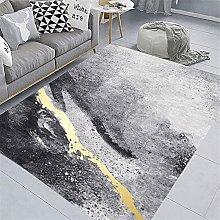 RUGMRZ Rug For Bedroom Modern gray fashion line