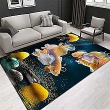 RUGMRZ Rug For Bedroom Oriental Carpet 3D Modern