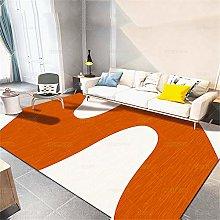 RUGMRZ Rug Soundproof A Bedchamber Rug Orange big