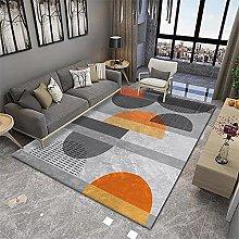 RUGMRZ Small Bedroom Rug Orange series of modern