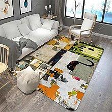RUGMYW Rug Carpets For Room Short Pile Gray