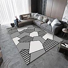 Rugs Bedroom Large Retro Rug Gray White irregular