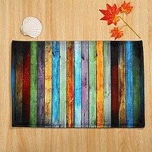 Rugs & Carpet LEEDY Non Slip Color Wood Board