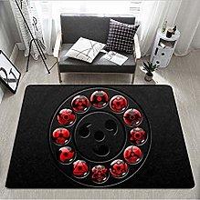 Rugs Cartoon Naruto Printed Soft Carpets Anti-Slip