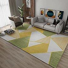 Rugs childrens rug Green yellow stripes geometric