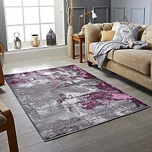 RUGS CITY Modern Style Rug ABSTRACT Design Black
