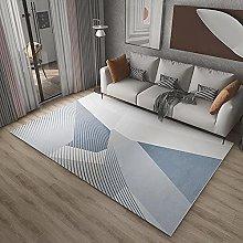 Rugs desk rug Blue white stripes geometric design