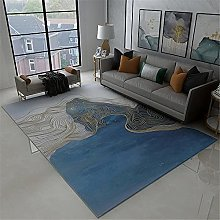 Rugs desk rug Blue yellow abstract graffiti line