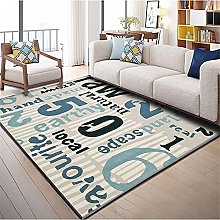 Rugs desk rug Soft and comfortable Blue black